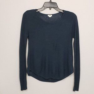 garage sweater long sleeve blue size small